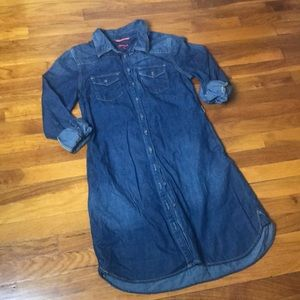 Merona Sz S Dark Blue Denim Dress